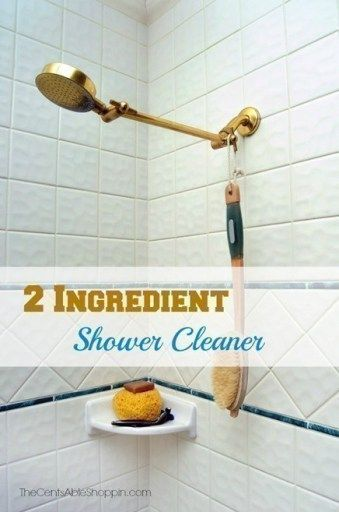 Easy 2-Ingredient Shower Cleaner {Dawn + Vinegar}