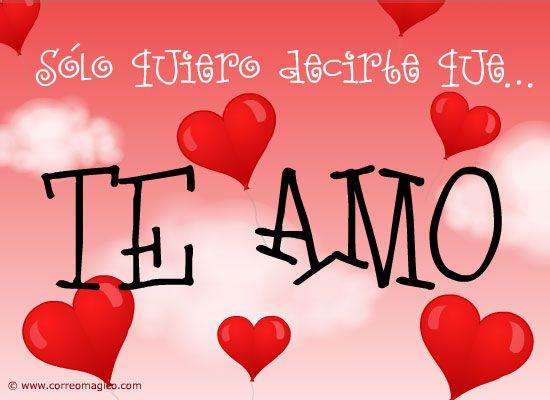 Sólo quiero decirte que te amo