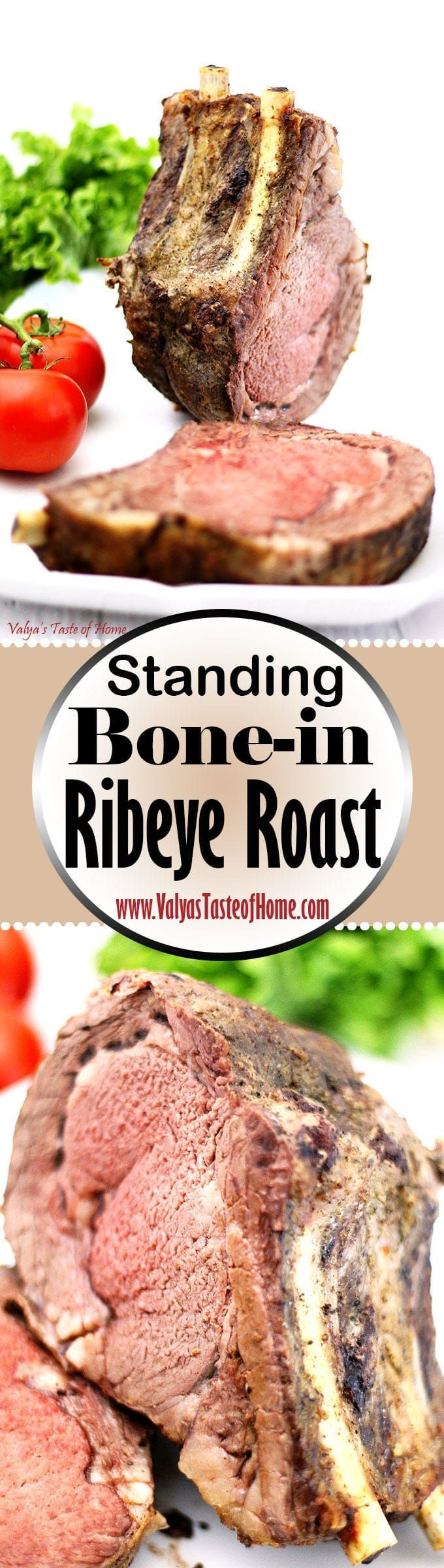 This Standing Bone-in Ribeye Roast Recipe is the most amazingly juicy, super soft and delicious pieces of meat in the steak family you can enjoy. And hey, if you want to splurge a little during a non-holiday season and enjoy a fantastic meal with your family, why not? So, if you need a perfect bone-in rib roast ultra-simple recipe, don't miss out on this one. Enjoy! |www.valyastasteofhome.com