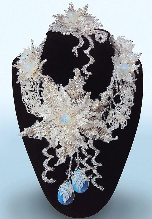 Beautiful Beaded jewelry by Natalia Savelieva | Beads Magic. Amazing shapes in this piece.