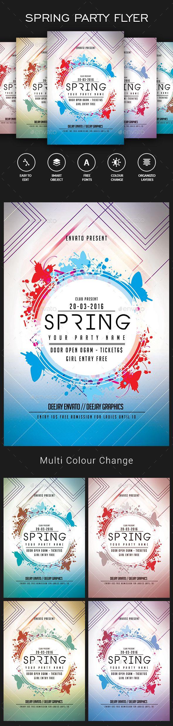 Spring Flyer Template PSD