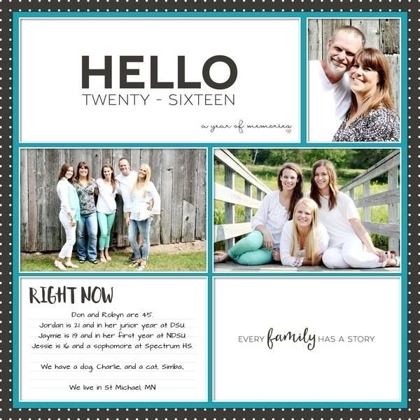 The Digital Press :: Pocket Scrapbooking :: Journaling Cards :: Documenting Everyday (2016) First and Last Page Cards