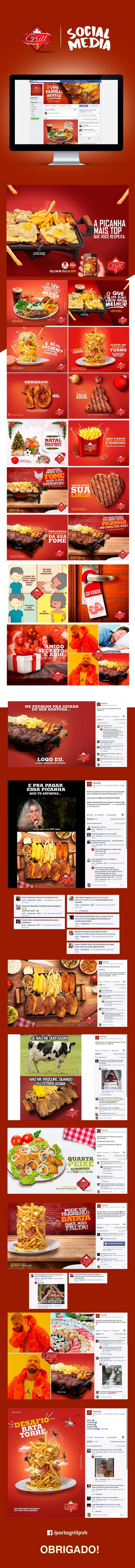 Porto Grill - Mídias sociais on Behance