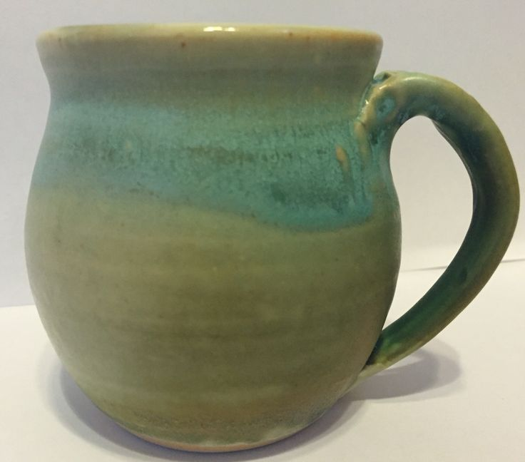 Light Turquoise Mug. By Jolie Byrne.