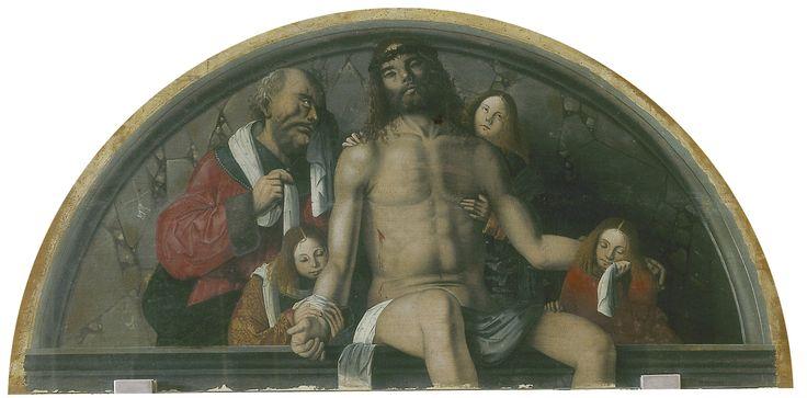 Francesco Zaganelli / Pietà / Tavola a forma di lunetta, cm 80x160 / Cotignola RA Chiesa di San Francesco