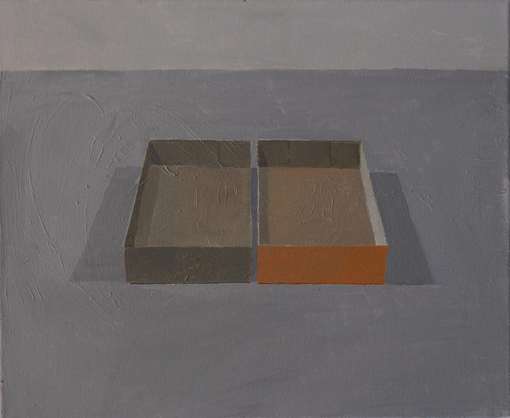 """Stuart McHarrie; Oil, 2012, Painting """"2 paint boxes"""""""