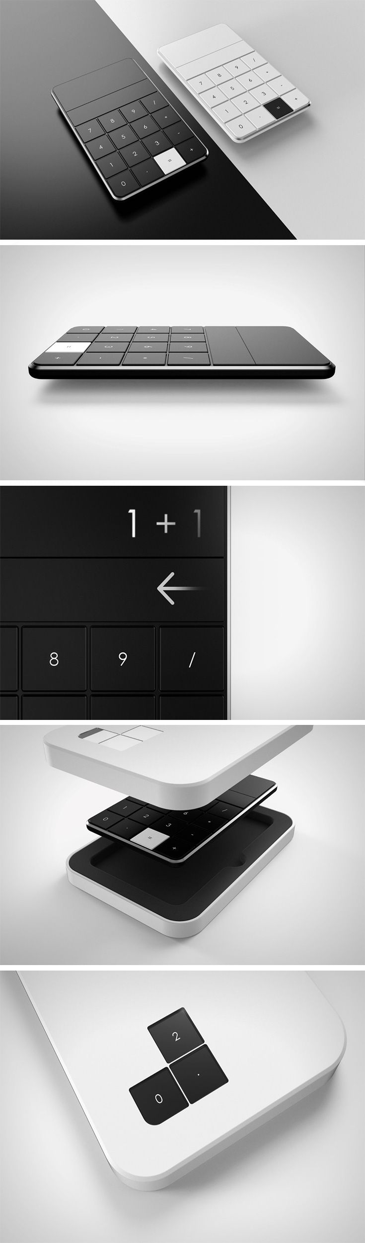 The Calculator 2.0 is just mesmerising to look at, and it comes with an incredibly sleek design that even makes use of a touch bar below the screen. The entire product has a monochrome vibe to it with jet black keys and screen with just the '=' key in white, really punctuating the design in a beautiful way.
