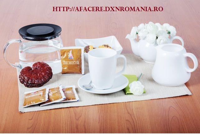 http://afacere.dxnromania.ro/products DXN Zhi Mocha este o specialitate de cafea Lingzhi, pe care am preparat-o acelor iubitori de cafea, cărora le place şi ciocolata. Cafeaua Zhi Mocha, este produsă din cafea instant din boabe de cafea selecţionate, extract de Ganoderma şi pudră de cacao.