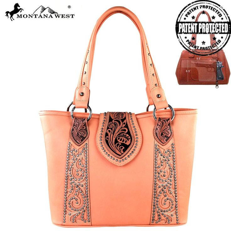 Montana West Tooling Concealed Carry Handbag