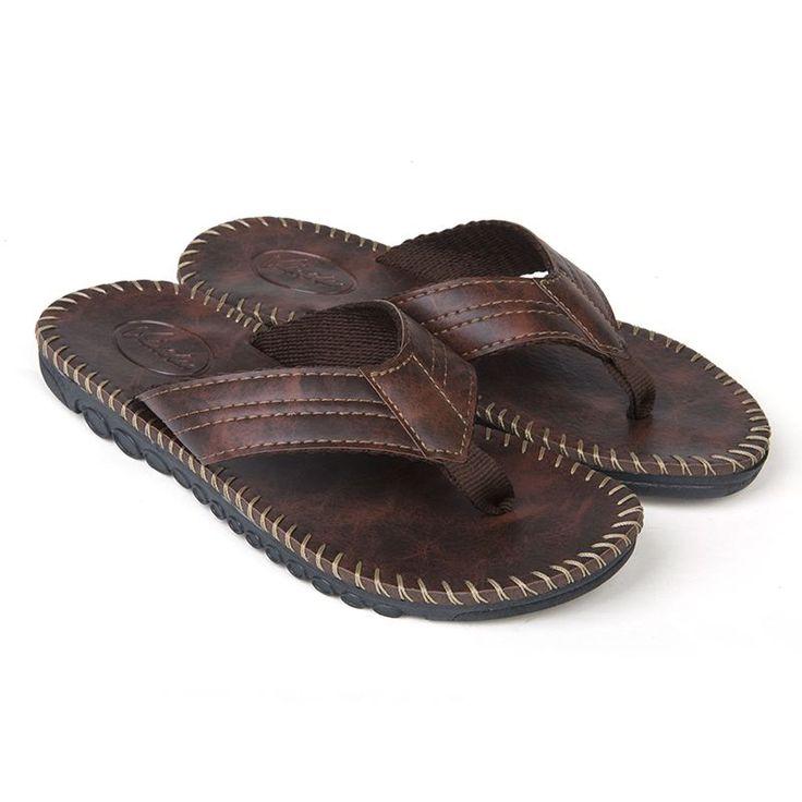 Sale 23% (18.99$) - Men Casual Anti-slip Slipper Summer Beach Flat Soft Comfortable Flip Flop Sandals Leisure Shoes #outdoorshoes