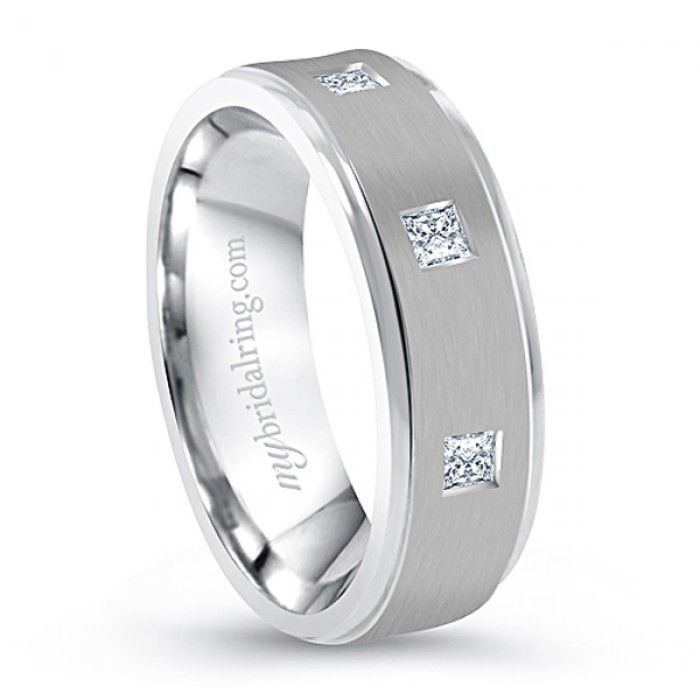 333 best Mens White Gold Wedding Bands with Diamonds images on