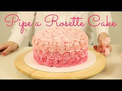 Rosette style for DIY 1st birthday smash cake CAKE TREND ~ Decorate an Ombré Rosette Cake - CAKE STYLE - YouTube Link to video on blog page