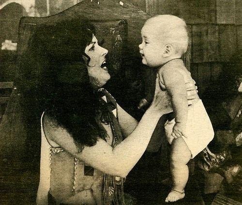 Grace Slick and her daughter, China Kantner