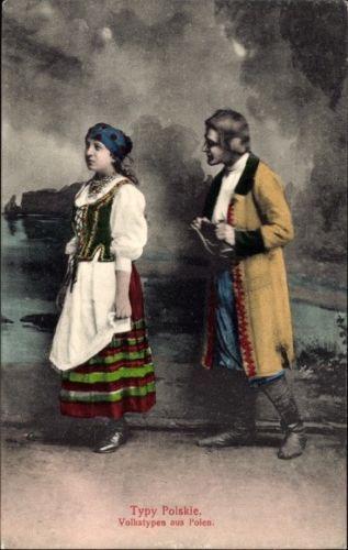 Ak-Typy-Polskie-Volkstypen-aus-Polen-Polnisches-Bauernpaar-in-1037619