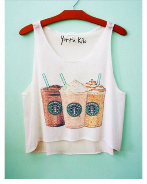 #crop top #starbucks #bohemian