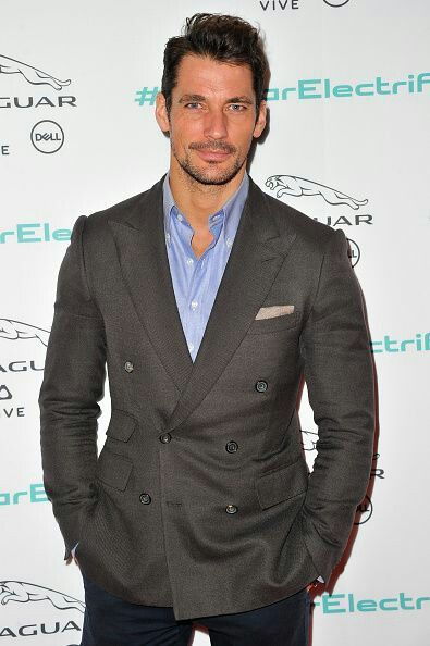 David Gandy at the Jaguar Concept reveal of the I-PACE. Ahead of it's global debut @ the LA Auto show @ MLK Studios in LA California • 11-14-2016•