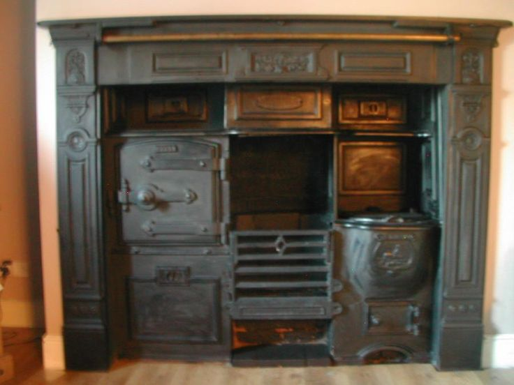 Gas Kitchen Oven Set In Fireplace
