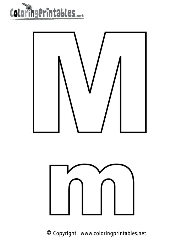 Alphabet Letter M Coloring Page - A Free English Coloring Printable
