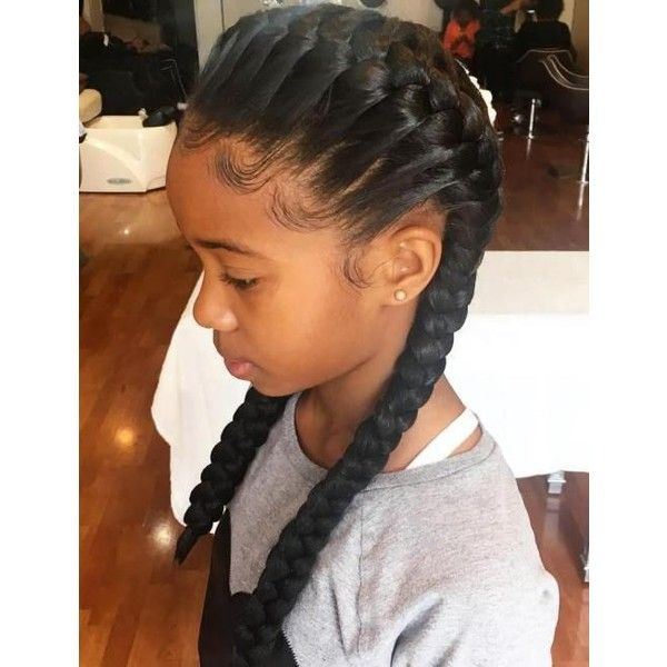 Black Children Hairstyles Liked On Polyvore Featuring Hair