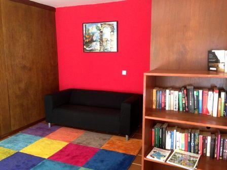 Library at Naturplaya Hotel, Mallorca. Spain