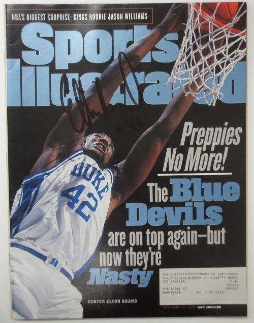 Elton Brand Duke Signed February 22, 1999 Sports Illustrated Magazine JSA