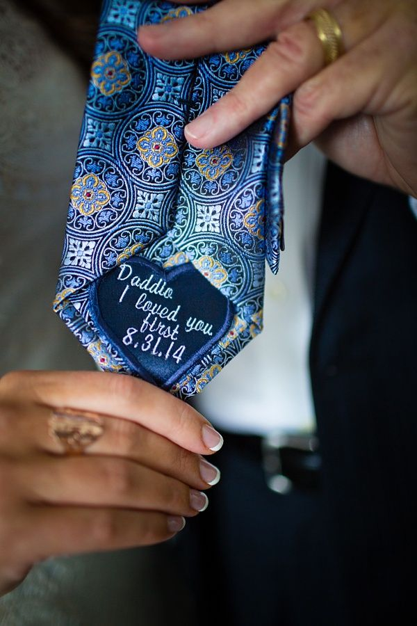 Sweet Dad Tie Patch To Give On The Wedding Day