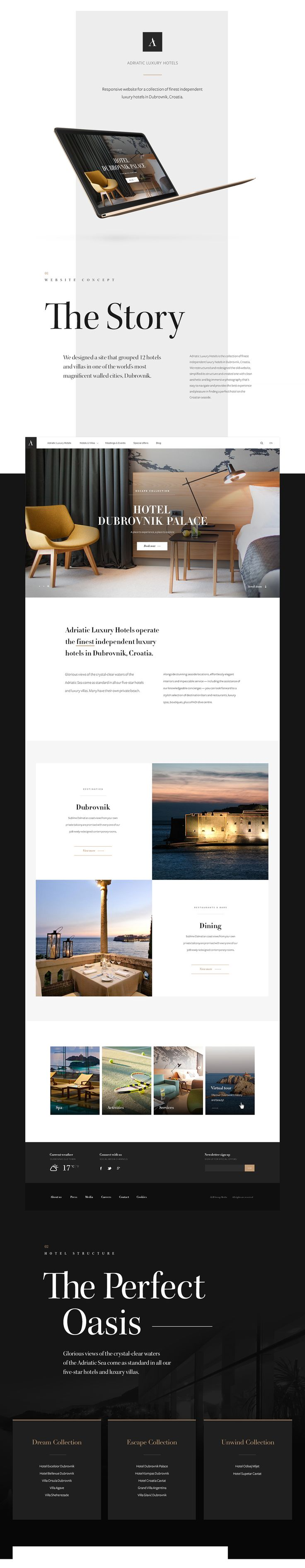 Adriatic Luxury Hotels Website | Abduzeedo Design Inspiration