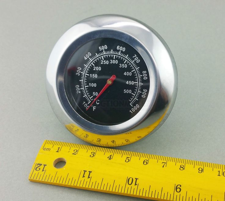 Large Stainless Steel Probe Bbq Thermometer 500c Woodfire Pizza Oven Barbecue