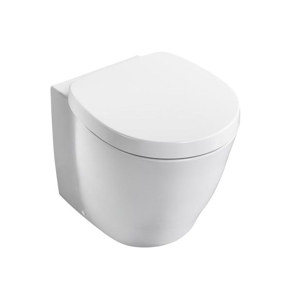 Ideal Standard Concept Freedom XL Raised Height Back-to-Wall Toilet WC 590mm Projection - Soft Close Seat White