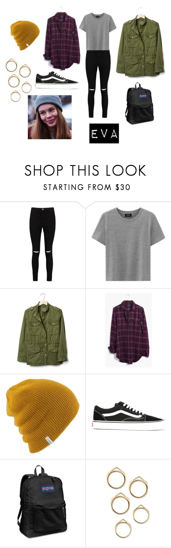 """""""SKAM-- Eva"""" by fatimasboutique ❤ liked on Polyvore featuring Boohoo, Gap, Madewell, Vans and JanSport"""