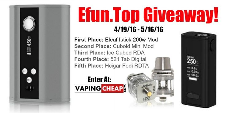 Enter to Win over $220 worth of vape gear at https://wn.nr/6yZKqt