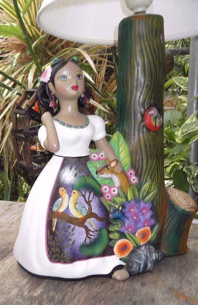 Original NAJACO LUPITA Hand Painted DOLL Tropical Birds Dress Cage Lamp   Dolls & Bears, Dolls, By Type   eBay!