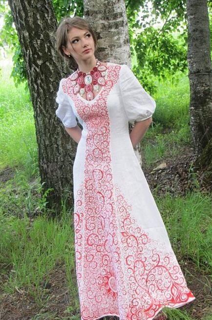 славянское свадебное платье - Поиск в Google