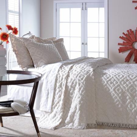 Belle Maison Diamond Tufted Chenille Bedspread - Walmart.com