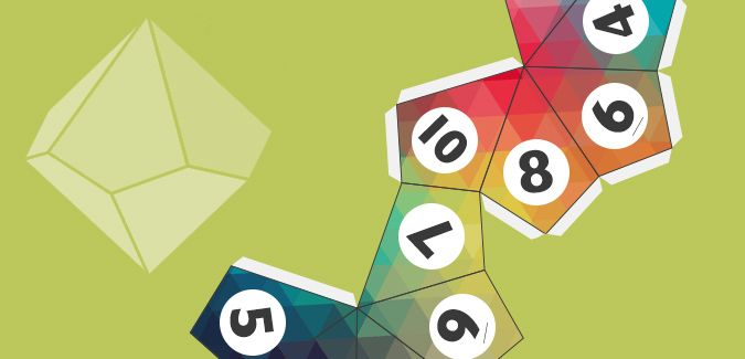 10-Sided Dice Template - Free Download