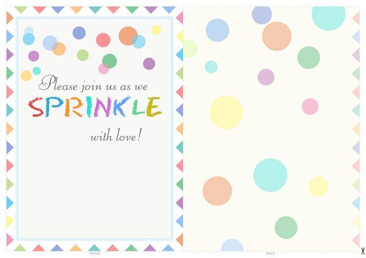 Free Printable Baby Sprinkle Invitations | Baby sprinkle ...