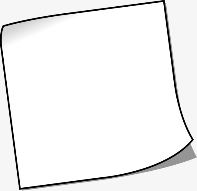 Hand Drawn Cartoon Piece Of Paper Png And Clipart How To Draw Hands Sticky Notes Clip Art