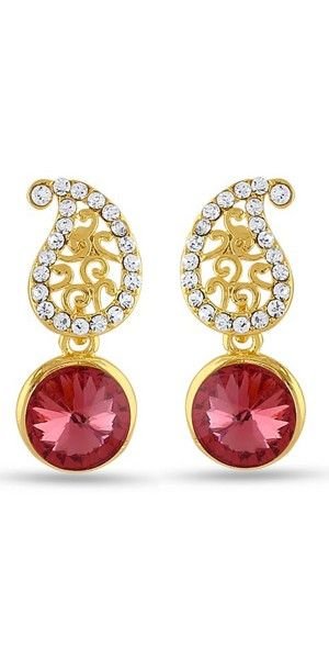 Perfect look Yellow, Red & Silver Earrings