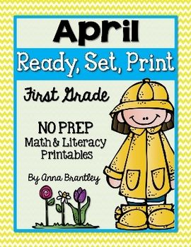 Looking for quick, easy, and engaging math and literacy activities for your students? These April themed printables will save you a lot of time because they require no prep. Just click, print, and you're ready to go!