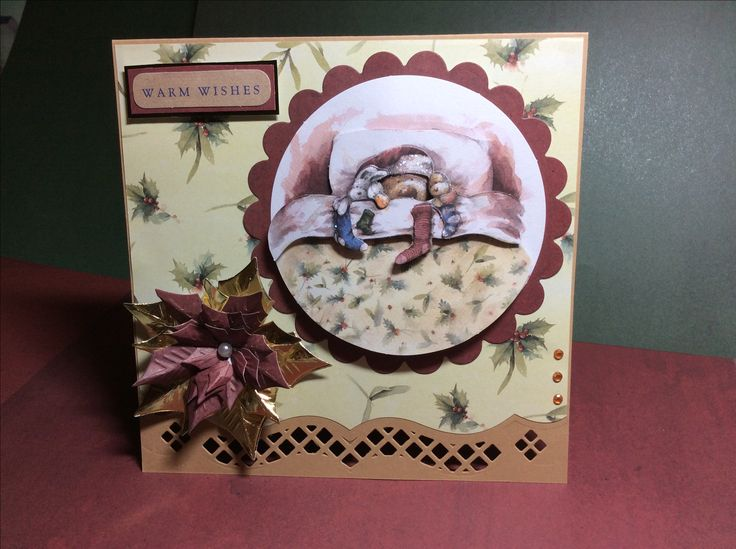 My first Christmas card made for 2016, using Wellington from docrafts