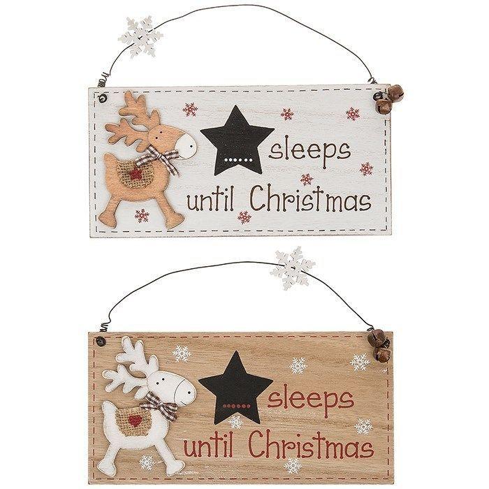 Cute Reindeer Sleeps until Christmas Plaque | Home, Furniture & DIY, Home Decor, Plaques & Signs | eBay!