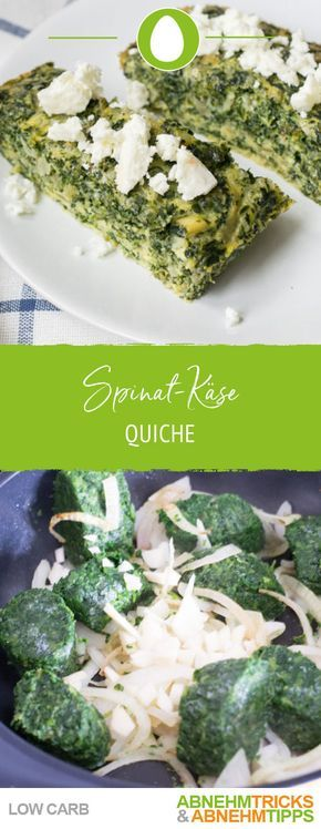 Spinat-Käse Low Carb Quiche – super einfach und Low Carb