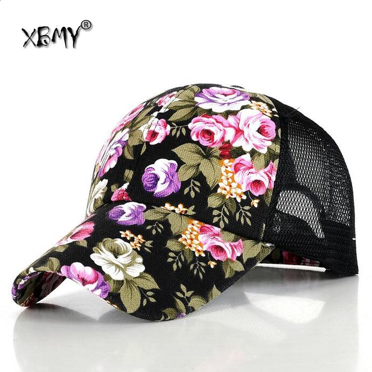 Summer Adjustable Baseball Cap Women Lady Flowers Embroidered Golf Hat Wholesale Baseball Hat Style name brand hats