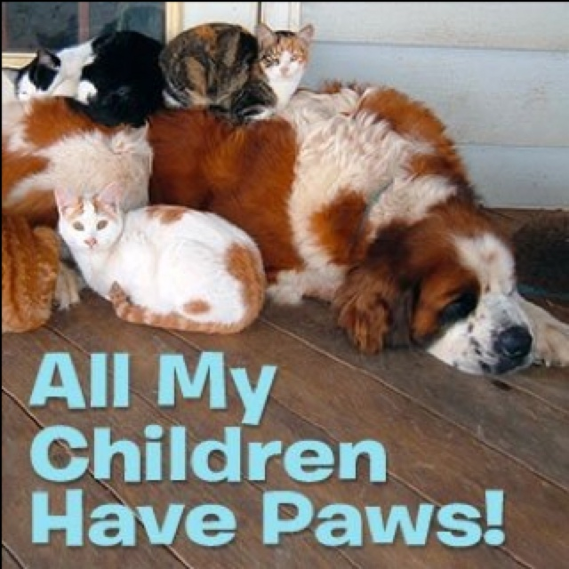 Mothers Day My Kids Have  Paws