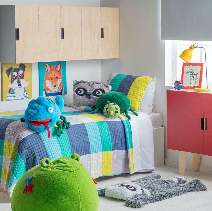 Nuestro nuevo quilt estampado es perfecto para este cambio de temporada, donde comenzamos a escoger cobertores más livianos para el dormitorio infantil.