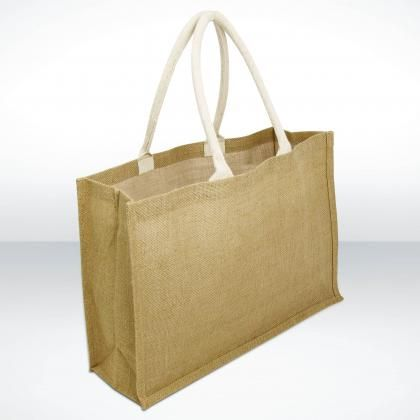 Jute Bag...  ORIGINAL Bag for Life. Large Landscape design with deluxe handles.  Print Area: 200 x 200cm,   Product Size: 17 x 47 x 32cm.