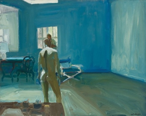 Paul Wonner, Drawing in the Studio  1964  Oil on canvas