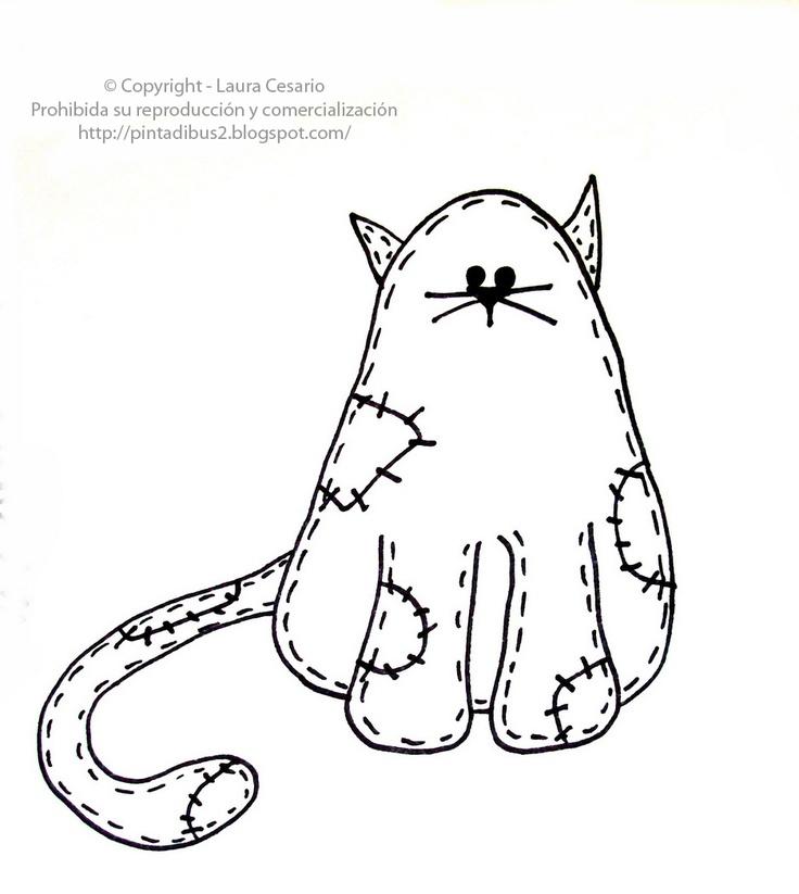Dibujos para imprimir y colorear: Dibujo de gato para ...