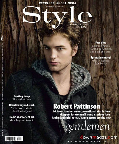 Men 39 S Style Fashion Magazine International April 2011 Robert Pattinson Magazine Covers