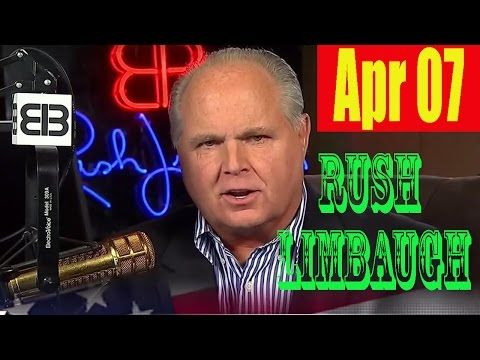Rush Limbaugh Radio 4/7/17 - Trump Supporters Alarmed by Syria Strike